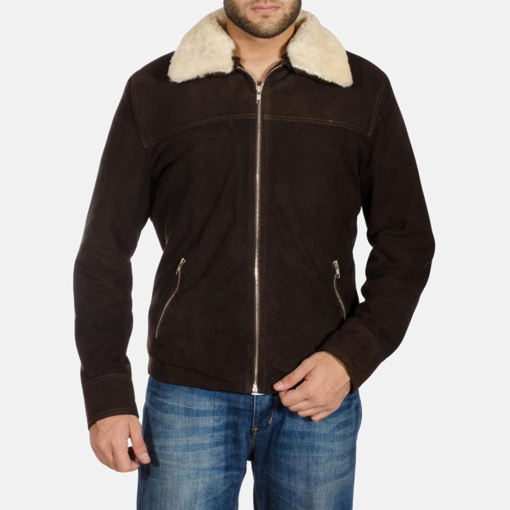 Mens Coffner Brown Shearling Fur Jacket 1