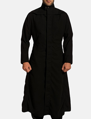 Dane Shadow Black Long Coat