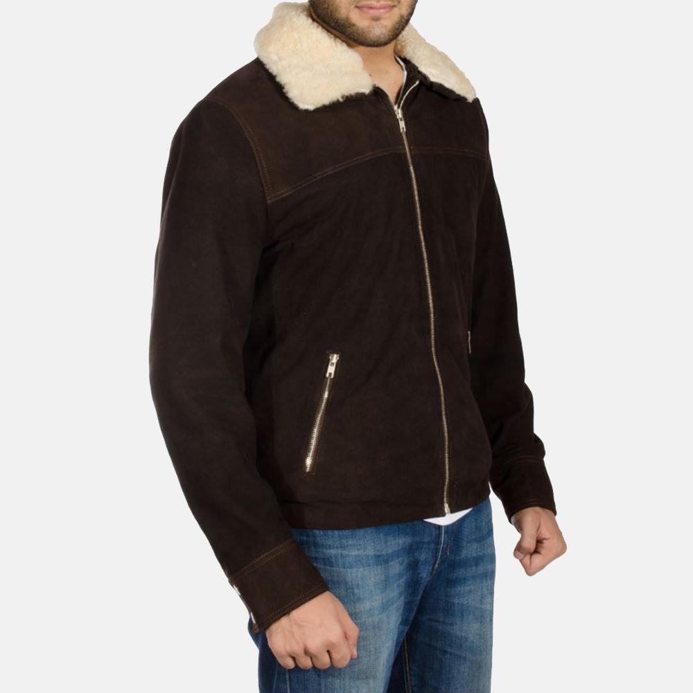 Mens Coffner Brown Shearling Fur Jacket 2