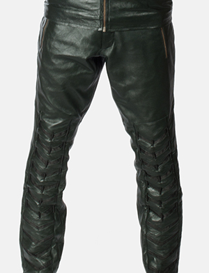 d441bb01dd1504 Home Leather Cosplay Green Leather Pants