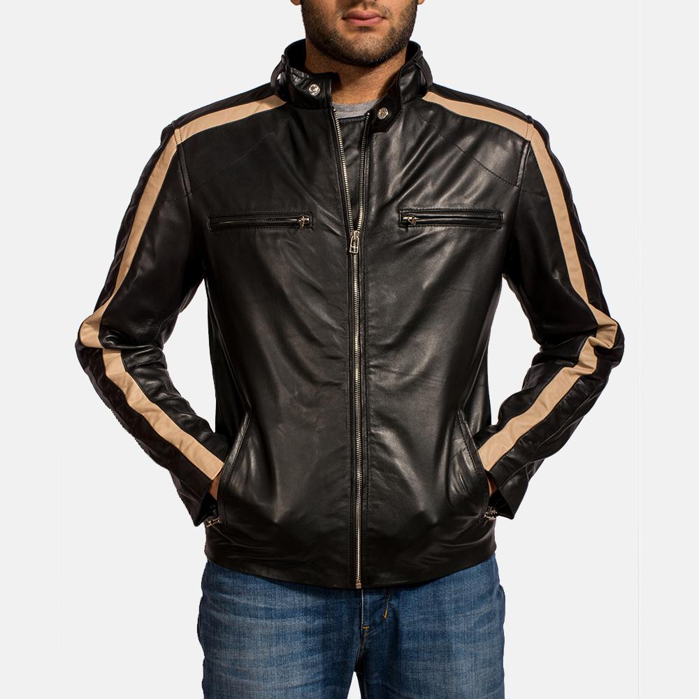5bab8217473 Mens Jack Black Leather Biker Jacket 6