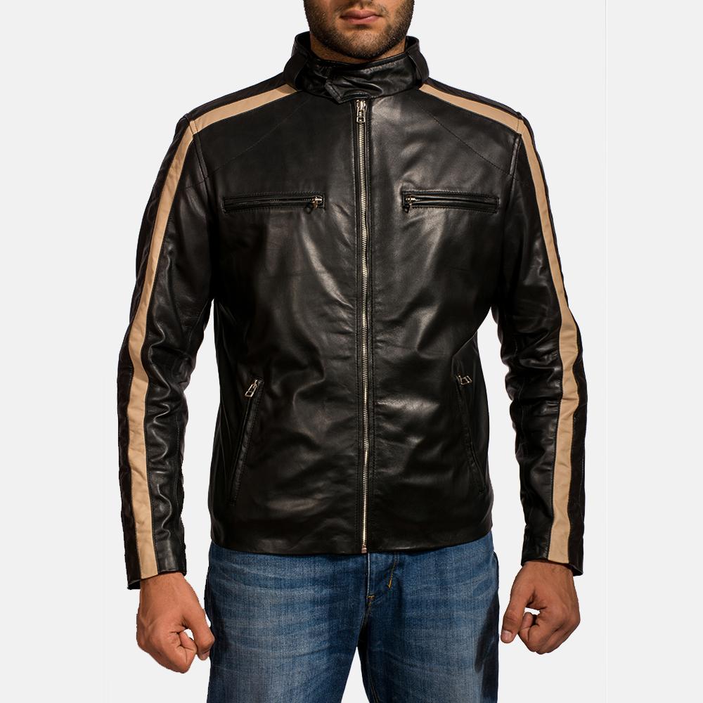 680a5b1af5d Mens Jack Black Leather Biker Jacket 1