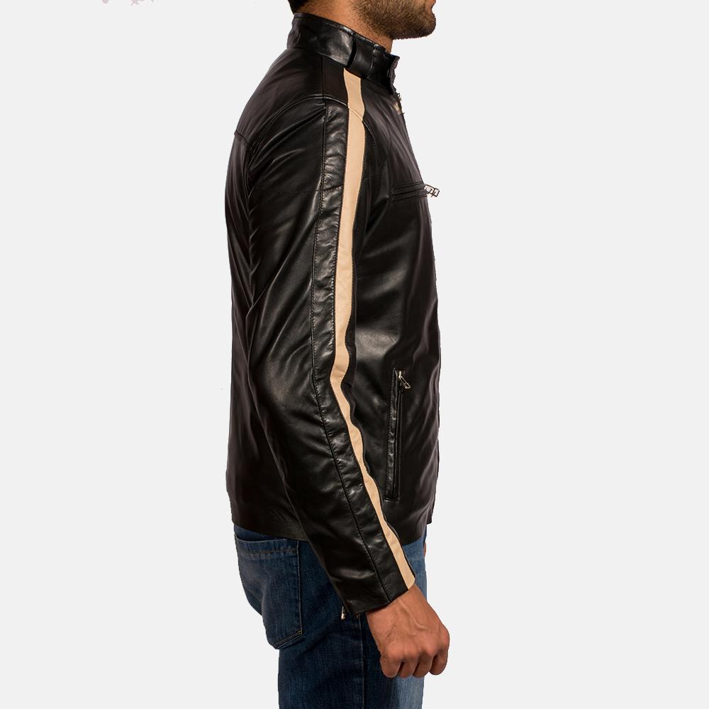 Mens Jack Black Leather Biker Jacket 4