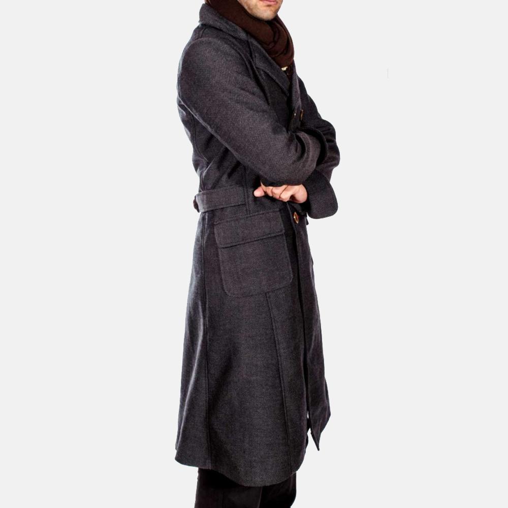 Mens Detective Wool Peacoat 4