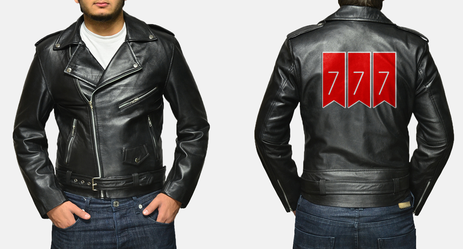 Custom Christopher Williams Allaric Alley Black Leather Biker Jacket 1