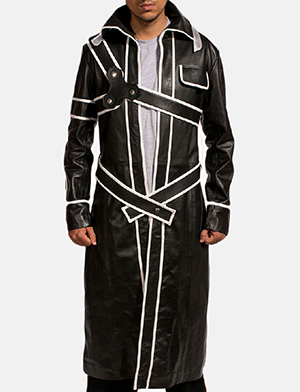 Mens Swordsman Leather Coat 1