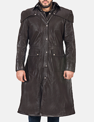 Men's Alexander Brown Leather Duster 1