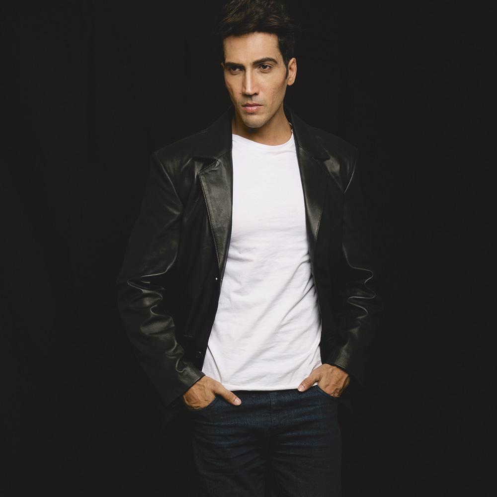 Mens Alyson Black Leather Blazer 6
