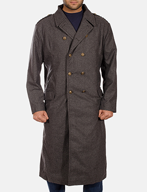 Mens Ashville Wool Peacoat
