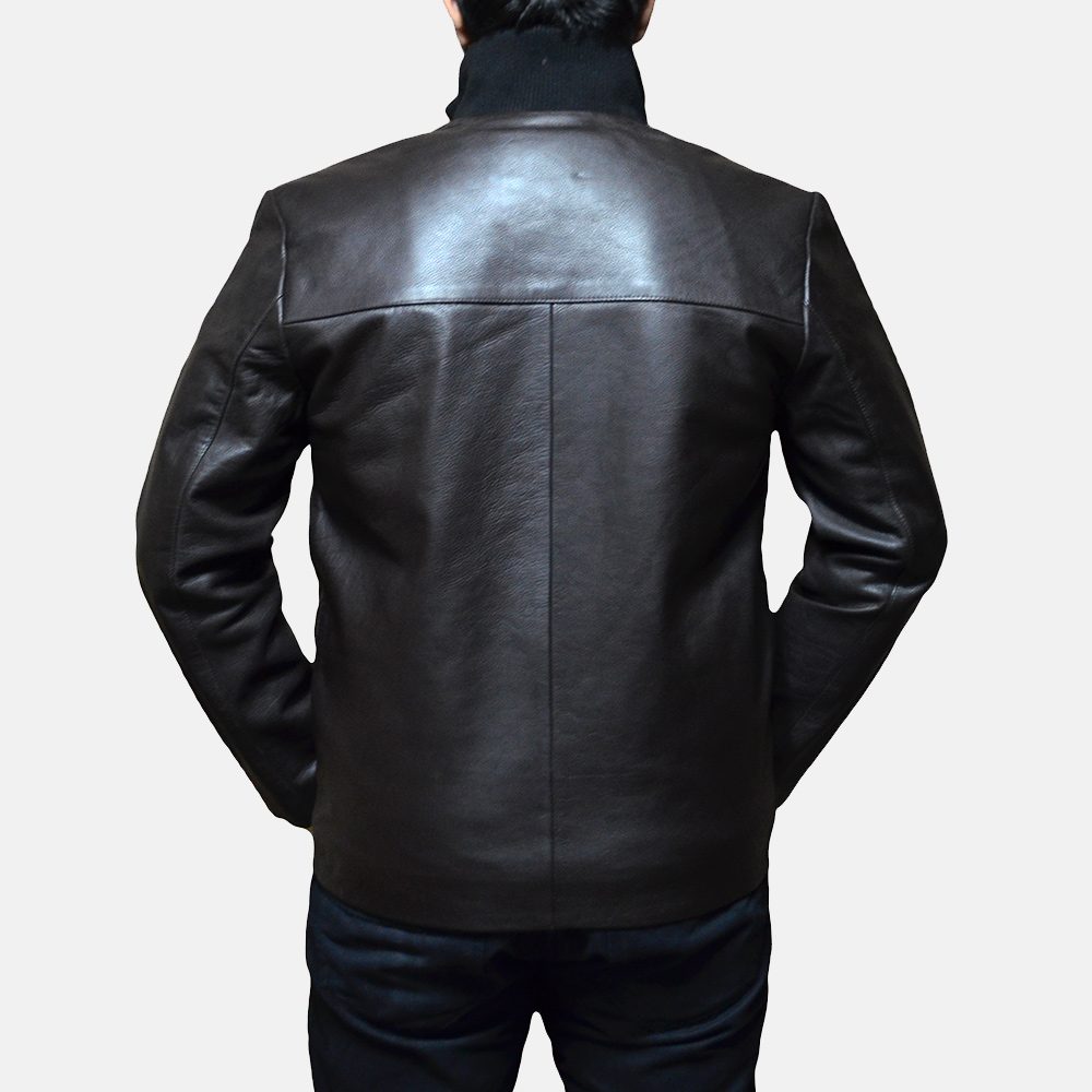Mens Royale Brown Leather Jacket 5