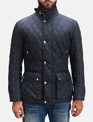 Mens Barry Quilted Windbreaker Jacket