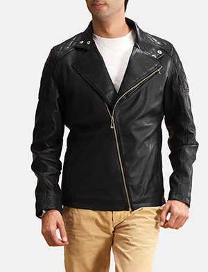 Danny Jargo Black Leather Biker Jacket