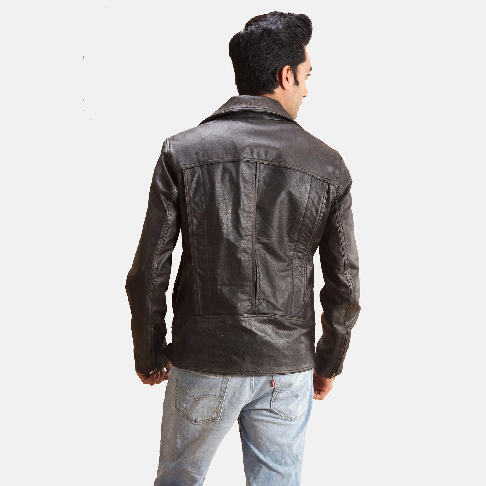Oliver Basic Buckled Leather Biker Jacket 4