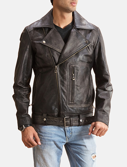 Basic buckled biker jacket thumb 1522075469271