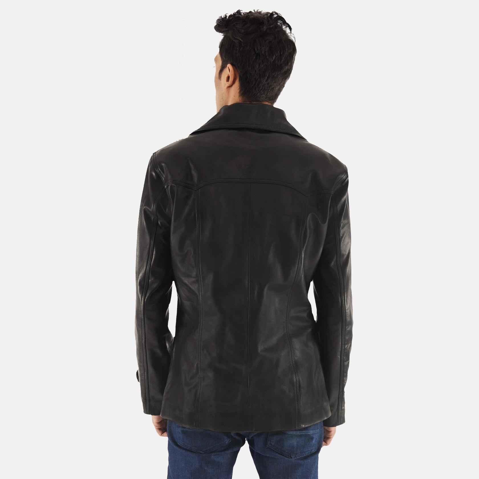 Leo Black Leather Coat 4