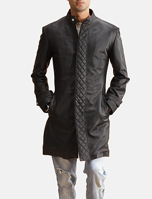 Black quilted centre coat zoom 2 1491403880448