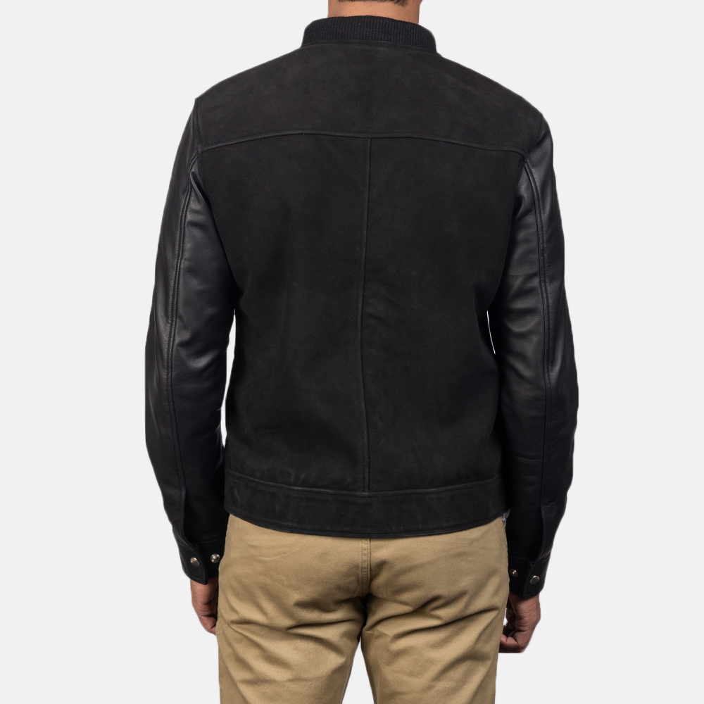 Men's Blain Black Hybrid Bomber Jacket 5