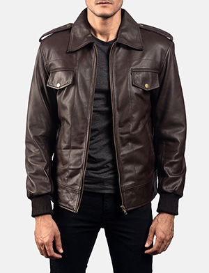 Chocolate rumble%20leather bomber jacket 1538488969958