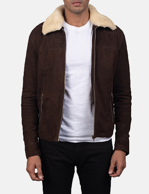Coffner brown shearling fur jacket for men 2726 1550823467936
