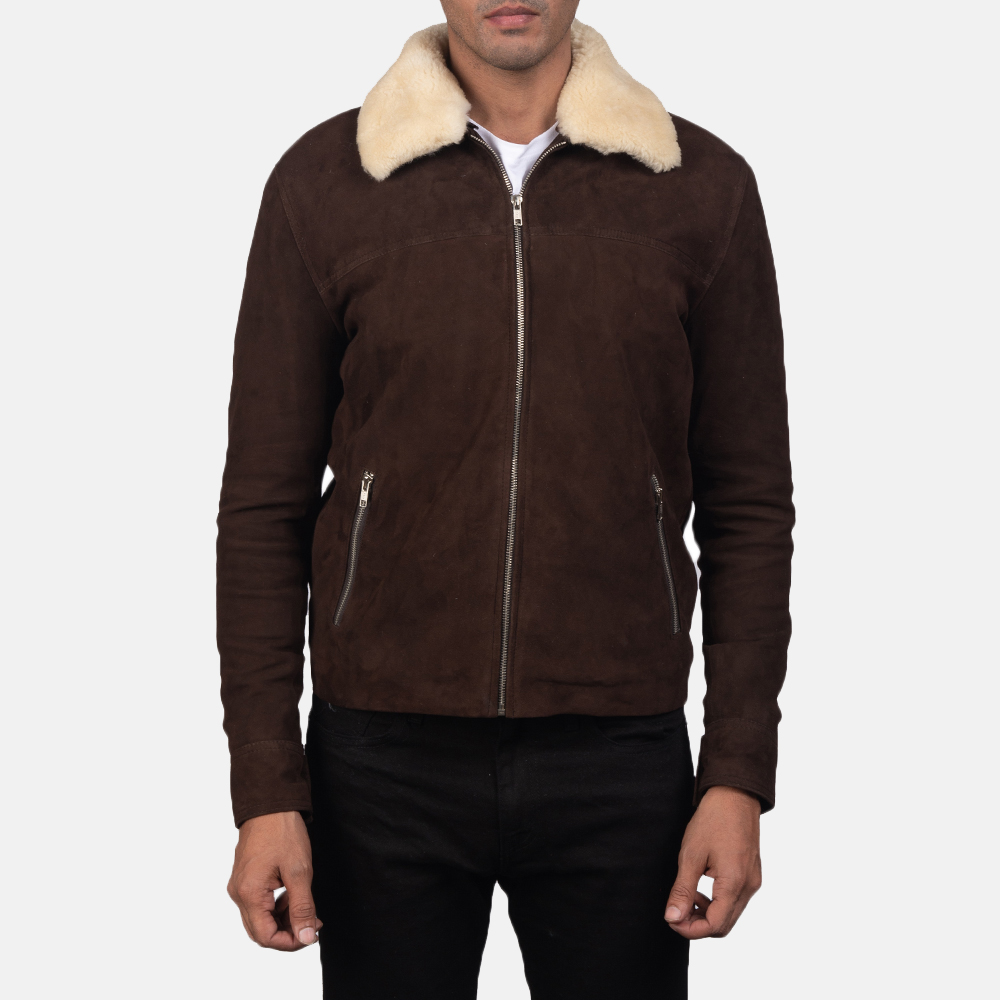 Mens Coffner Brown Shearling Fur Jacket 5