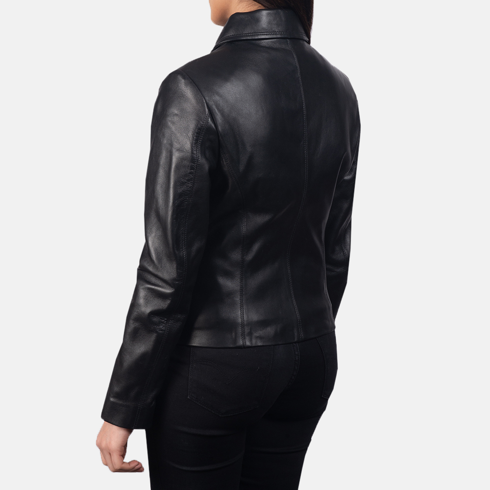 Women Colette Black Leather Jacket 5