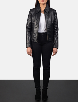 Women Colette Black Leather Jacket