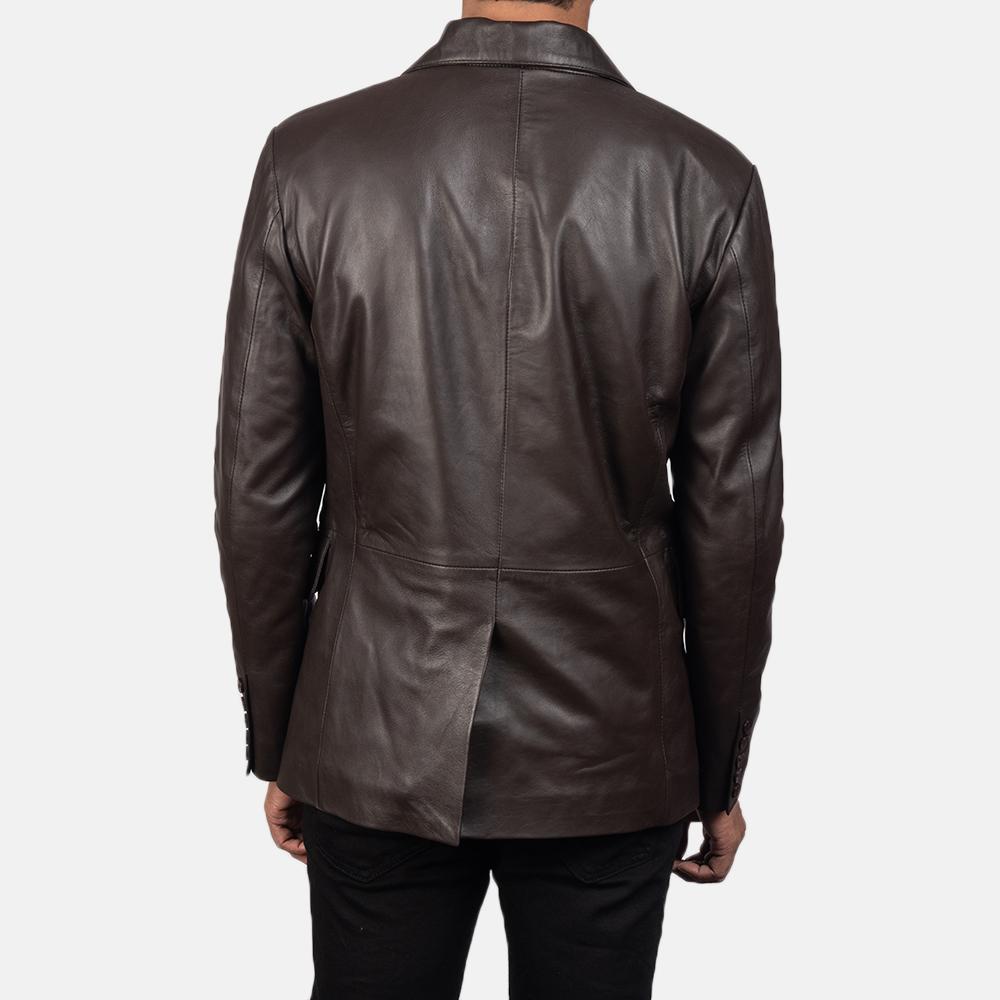 Men's Daron Brown Leather Blazer 5