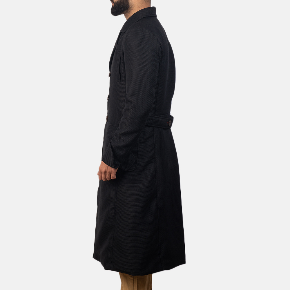 Mens Detective Black Peacoat 2
