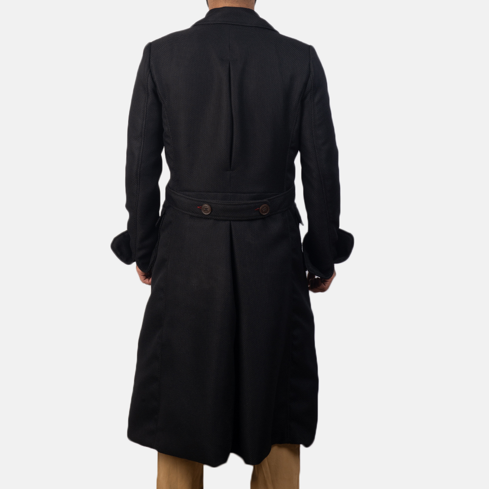 Mens Detective Black Peacoat 4
