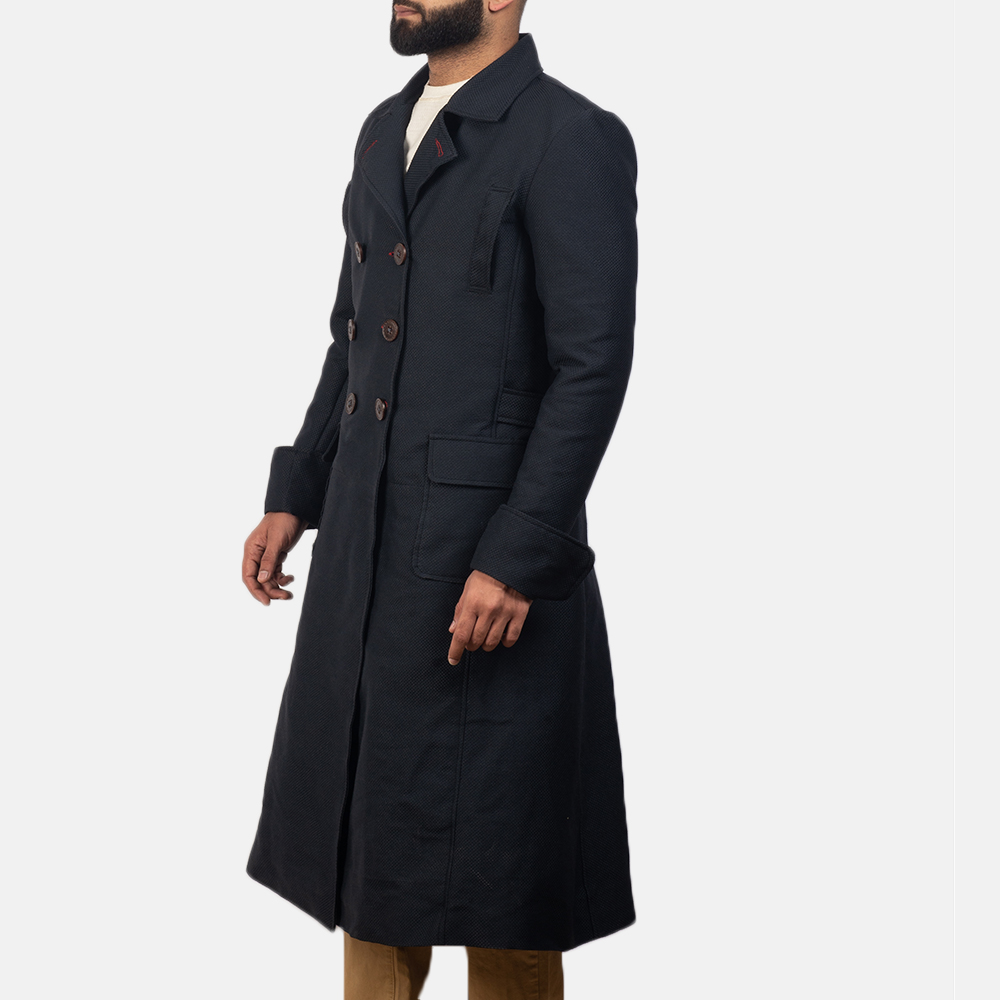 Mens Detective Blue Peacoat 3