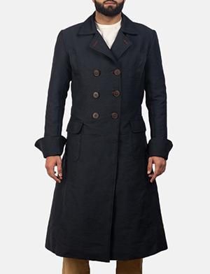 Mens Detective Blue Peacoat