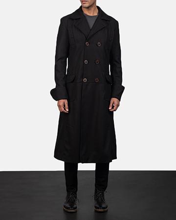 Mens Detective Wool Peacoat 1