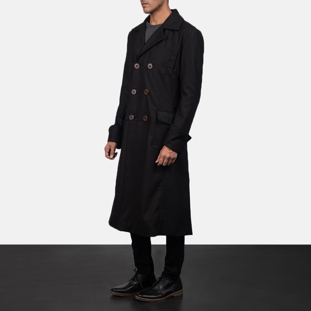 Mens Detective Wool Peacoat 2