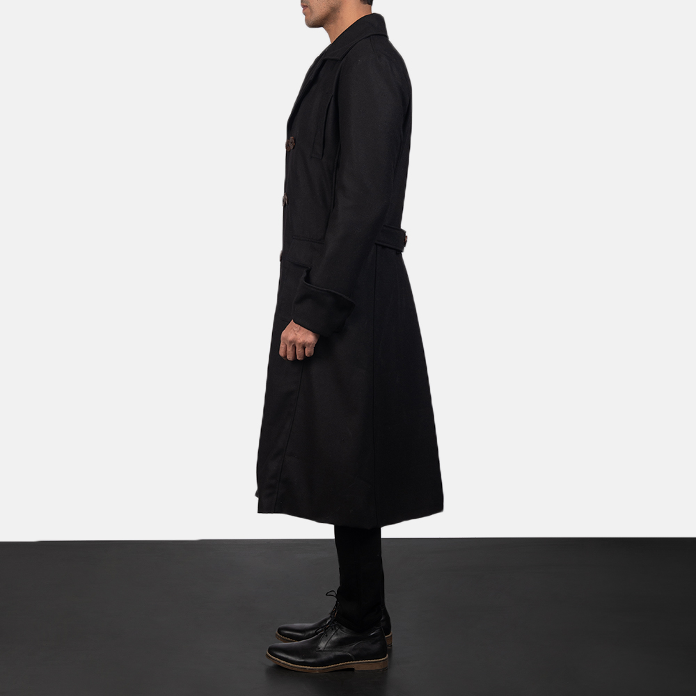 Mens Detective Wool Peacoat 3