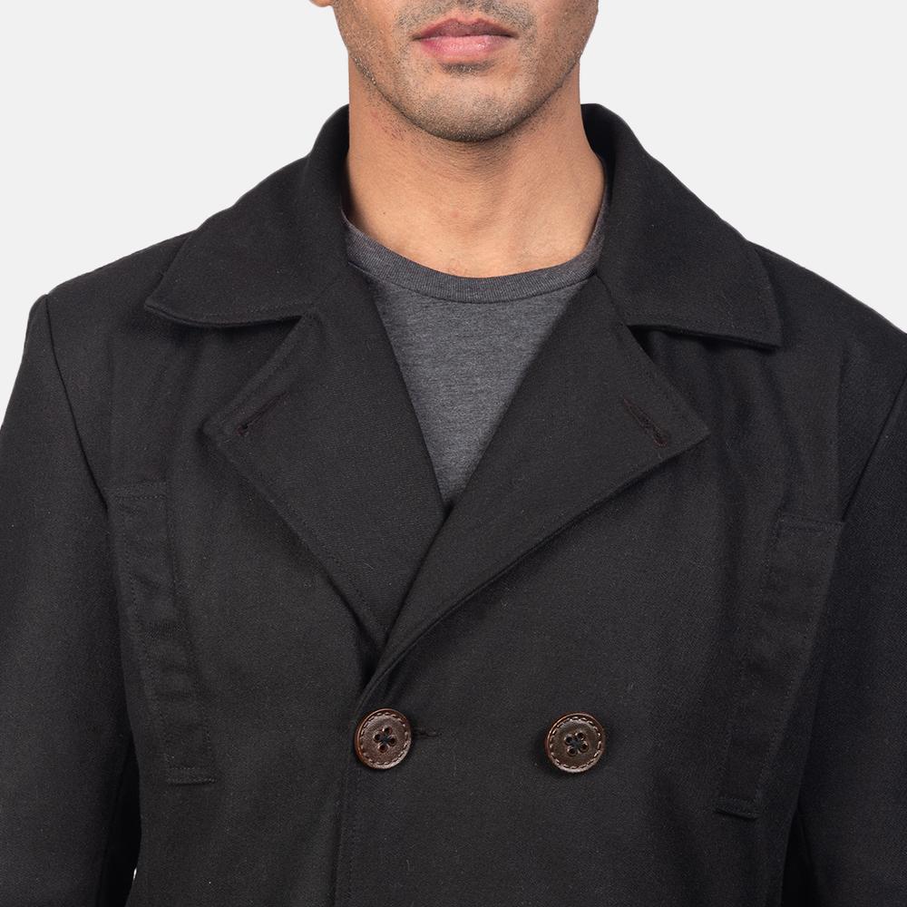 Mens Detective Wool Peacoat 6