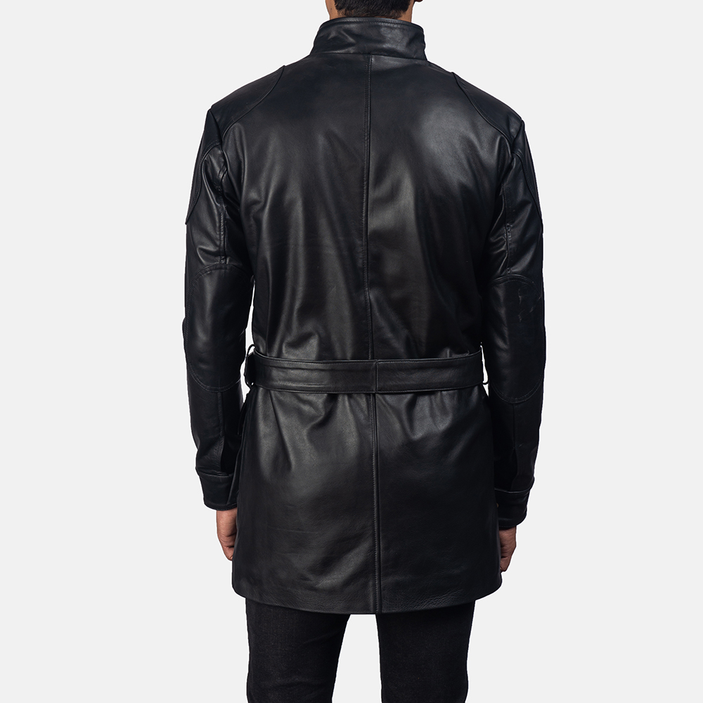 Mens Dolf Black Leather Jacket 4