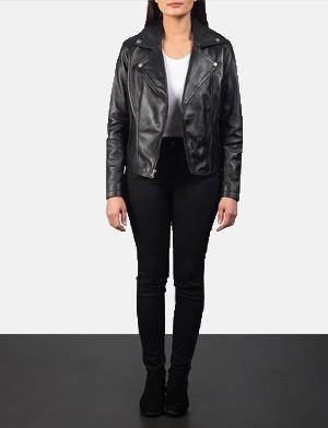 Women's Flashback Black Leather Biker Jacket