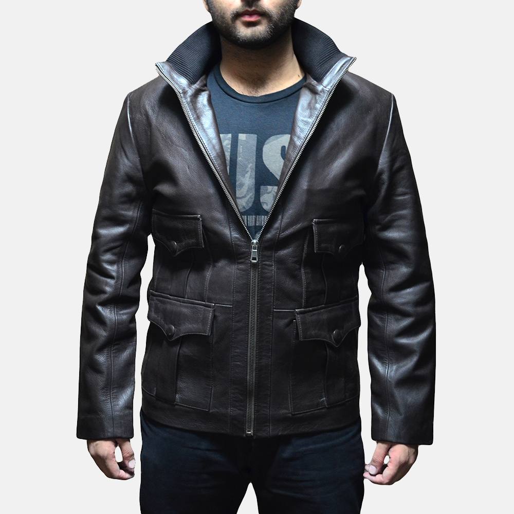 Mens Royale Brown Leather Jacket 3