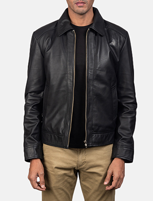 Mens Inferno Black Leather Jacket