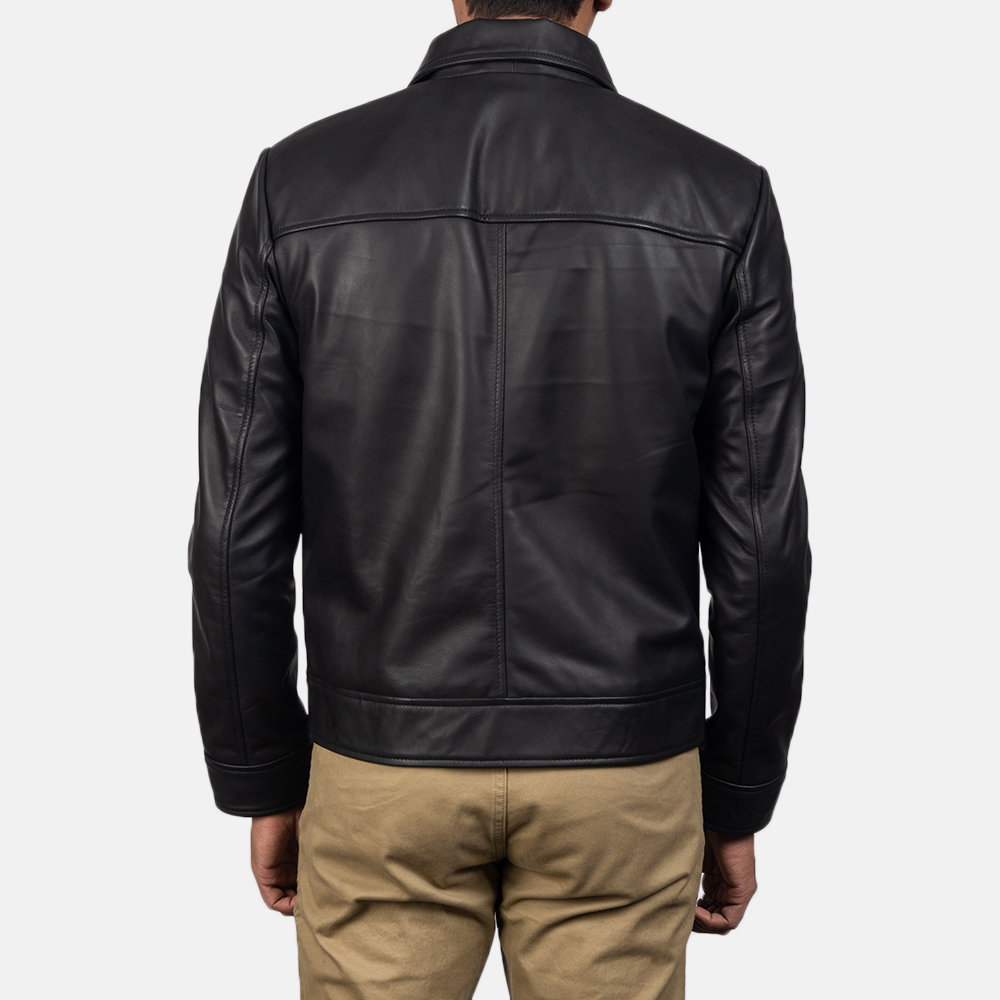 6a4365568 Inferno Black Leather Jacket