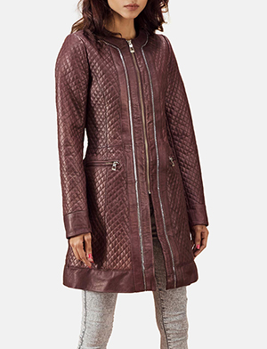 Maroon quilted coat zoom 2 a 1491411527396