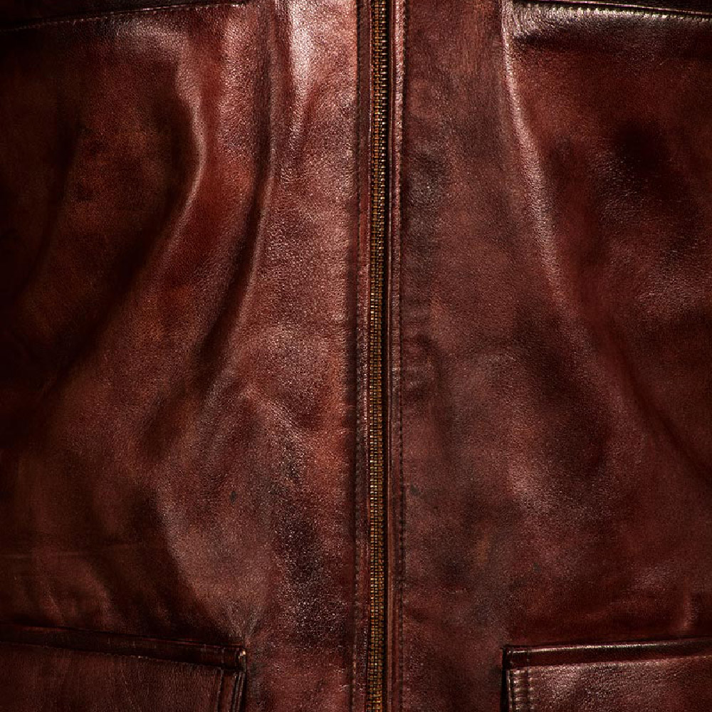 Mens Tuba Distressed Brown Leather Jacket 7