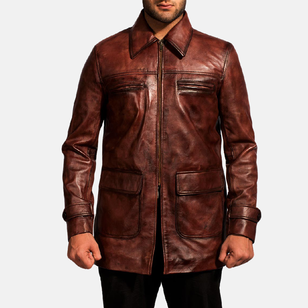 03838d5e4a Home Leather Jackets Tuba Distressed Brown Leather Jacket