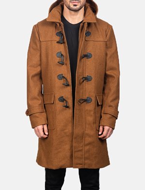 Men's Drake Khaki Wool Duffle Coat