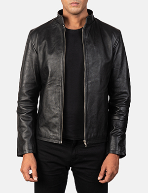 Men's Alex Black Leather Biker Jacket