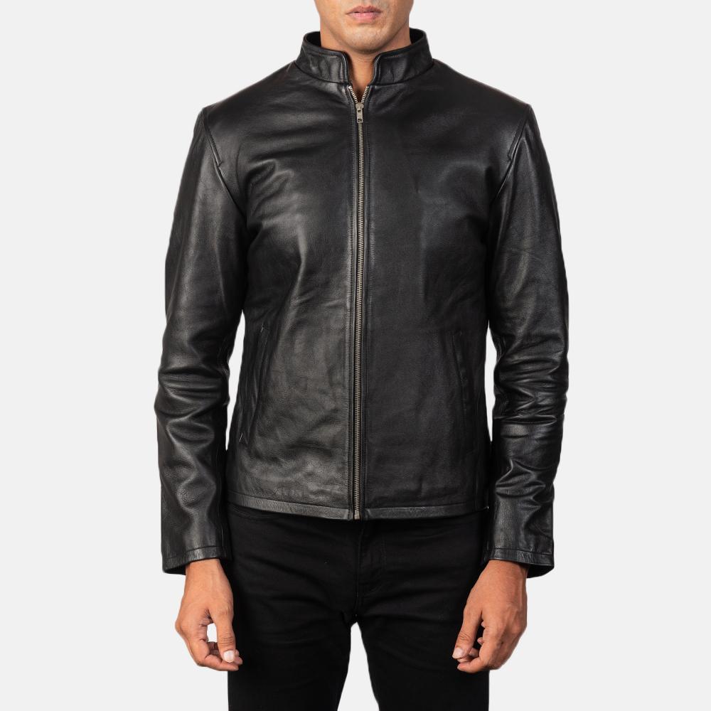 Men's Alex Black Leather Biker Jacket