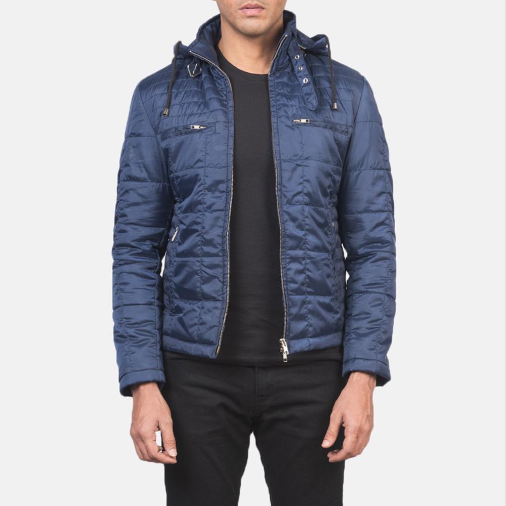 Men's Alps Quilted Blue Windbreaker Jacket 3