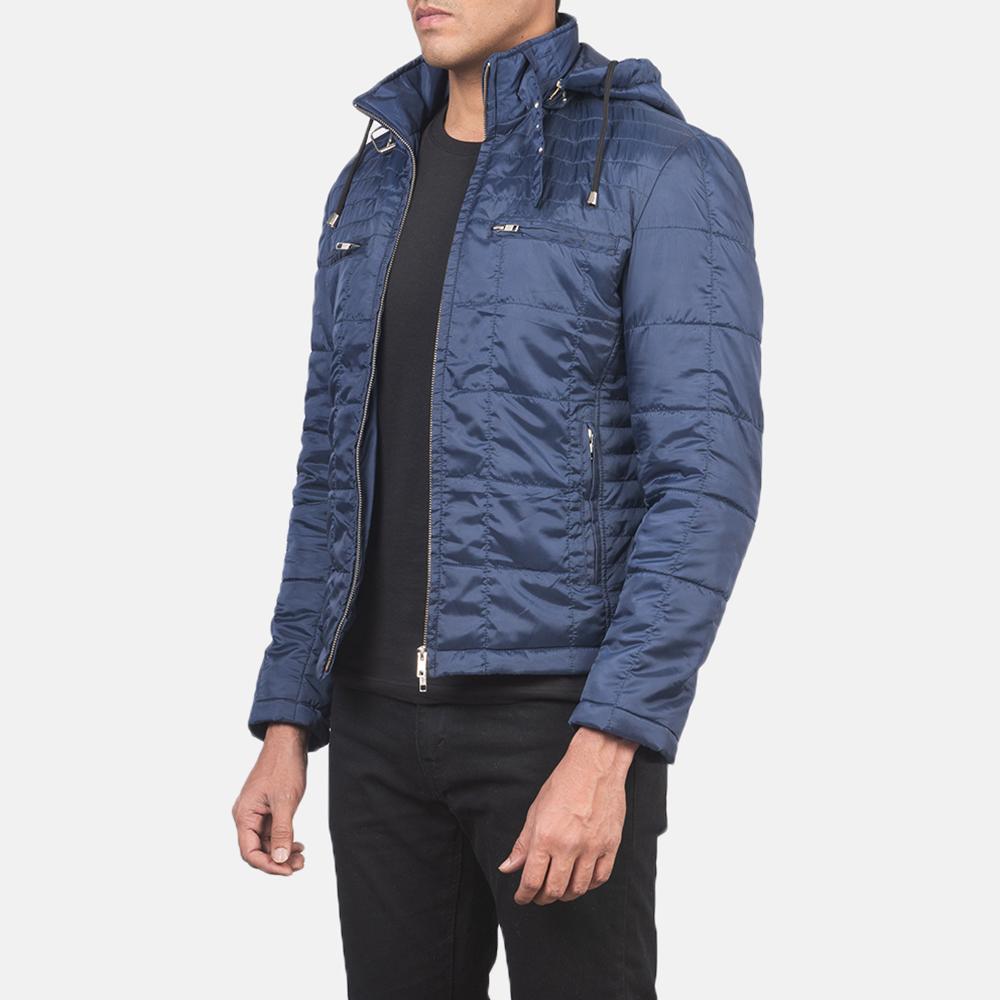 Men's Alps Quilted Blue Windbreaker Jacket 2