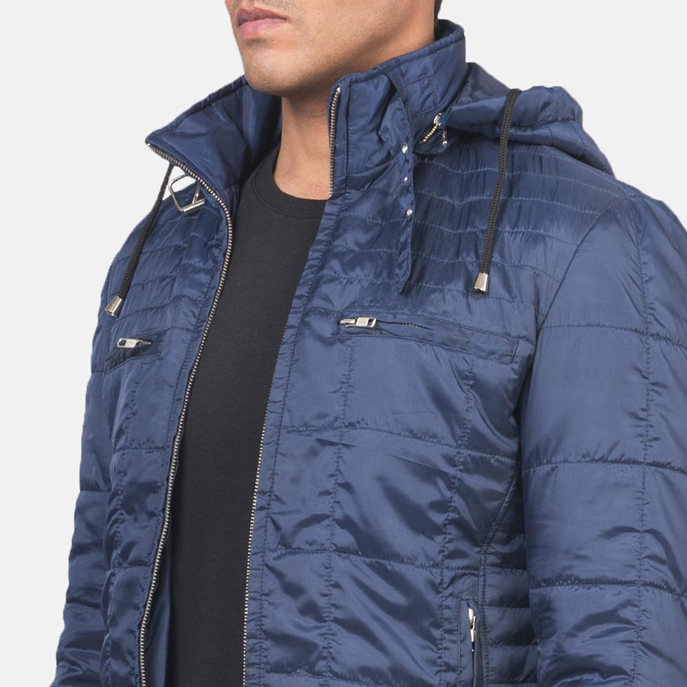 Men's Alps Quilted Blue Windbreaker Jacket 6