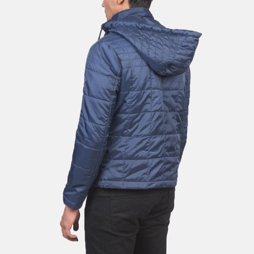 Men's Alps Quilted Blue Windbreaker Jacket 5